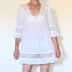 Other - ⭐️JUST IN⭐️ EUC Crochet Beach Cover-Up Dress